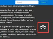 Highly Customizable jQuery Back To Top Plugin - go2top