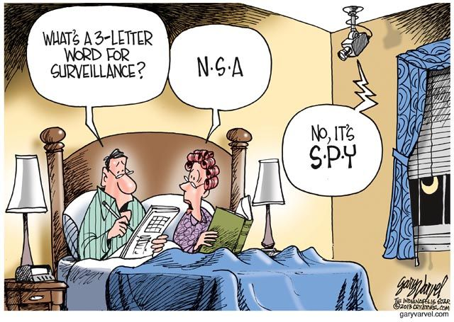 Image result for cartoons obama surveillance scandal