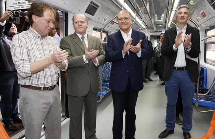 O Governador de São Paulo, entrega novo trem da CPTM linha Rubi. Local: São Paulo. Data: 02/09/2016 Foto: Ciete Silvério/A2IMG