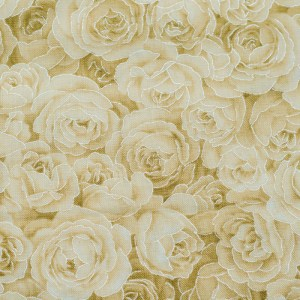 Personalized Cream Roses Weighted Blanket