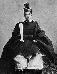 Taisho Emperor (Yoshihito), in his coronation robe