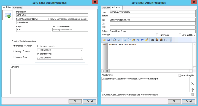 ETL Tools Package Design – Send Email – JRevell com
