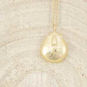 pendentif Talisman 2 en argent 925 plaqué or