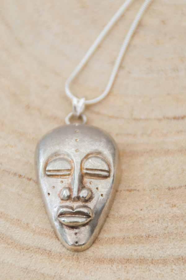 pendentif masque africain en argent 925