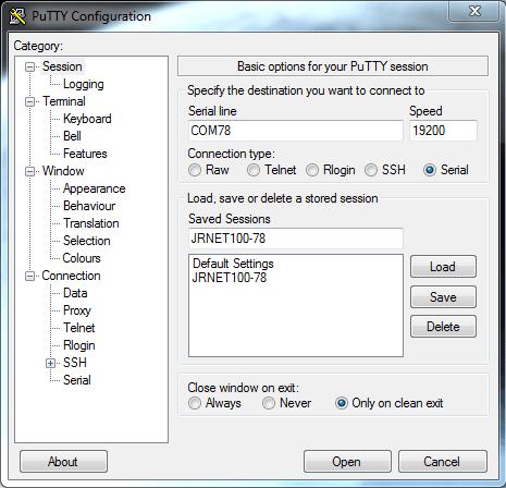 Putty klient pro Windows