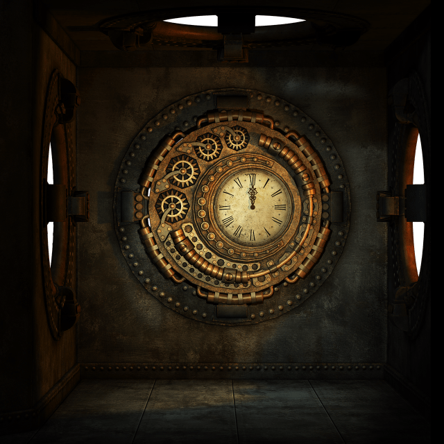 steampunk-clock1636156_1280