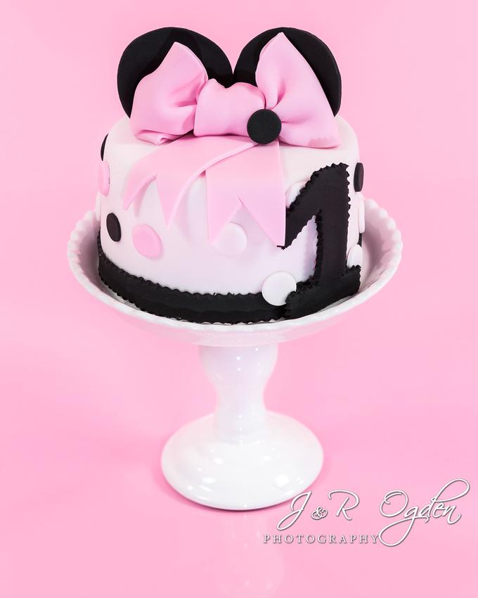 J R Ogden Photography Minnie Mouse Cake Smash Bangor Maine Cake Smash Photographers