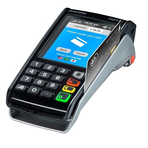 Ingenico,Desk 5000 EM – Color Display, Touch Screen, Ethernet Modem, PCI V4 PCA30010369C
