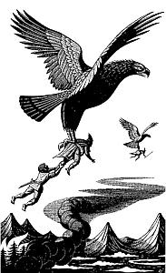 Illustrazioni della Regina Margherita II: le Aquile
