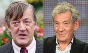 Stephen Fry e Ian McKellen