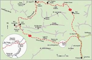 Mappa del Regno dei Fanes
