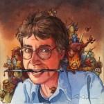 Autoritratto del disegnatore David T. Wenzel