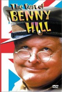 Il comico inglese Benny Hill (1924-1992)