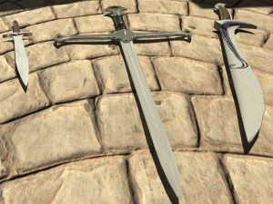 Tre spade: Anduril, Orcrist e Pungolo