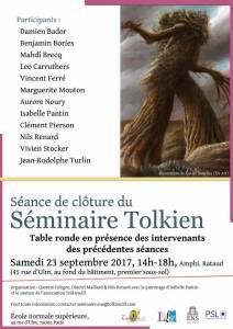 Seminaire Tolkien - table ronde 2017