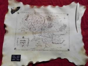 Mappa Terra di Mezzo - Scritto a Mano