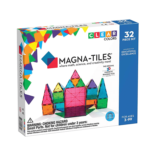magna tiles clear colours 32 pack