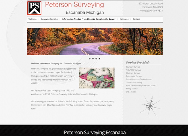 Peterson Surveying Escanaba