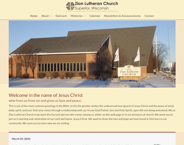 Zion Lutheran Church in Superior, WI