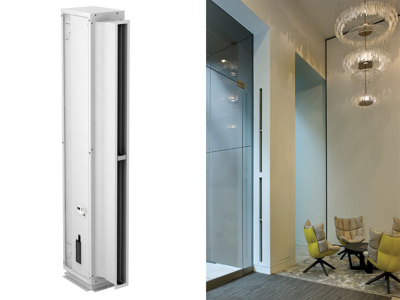new fully concealed air curtain