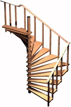Spiral Stair Plans Spiral Stairs Crafted In Wood | 9 Foot Spiral Staircase | Stair Railing | Mylen Stairs | Stairway | Stair Parts | Staircase Railings