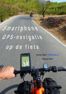 Smartphone GPS-navigatie op de fiets