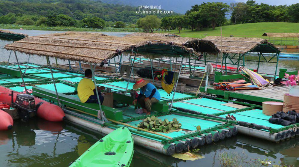 台東大坡池 竹筏採蓮   台東池上