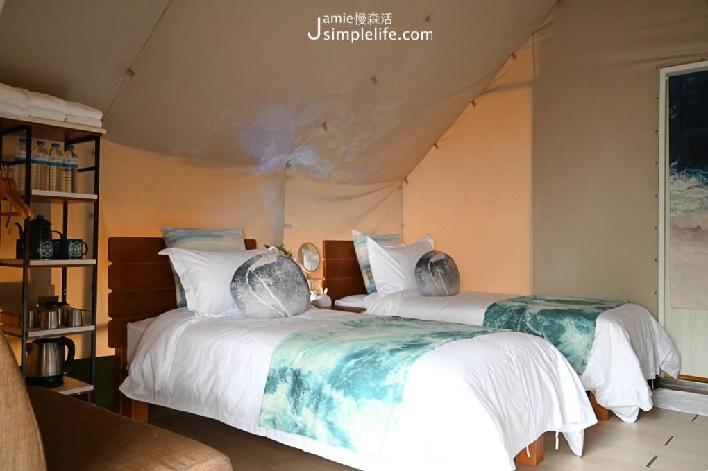 台中向海那漾豪華露營區 30頂豪華露營帳篷 四人帳篷,四張單人床房型