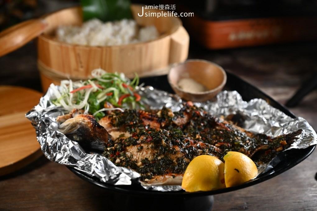 苗栗南庄那伊魯灣風味餐廳 乾煎鱒魚