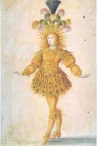 Louis XIV as Apollo in The Ballet Royal de la Nuit, from the Library of Congress exhibition, Treasures from the Bibliothèque Nationale de France