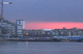 View along the Thames towards Hammersmith from Battersea, near Lombard Road. Click for bigger & better image.