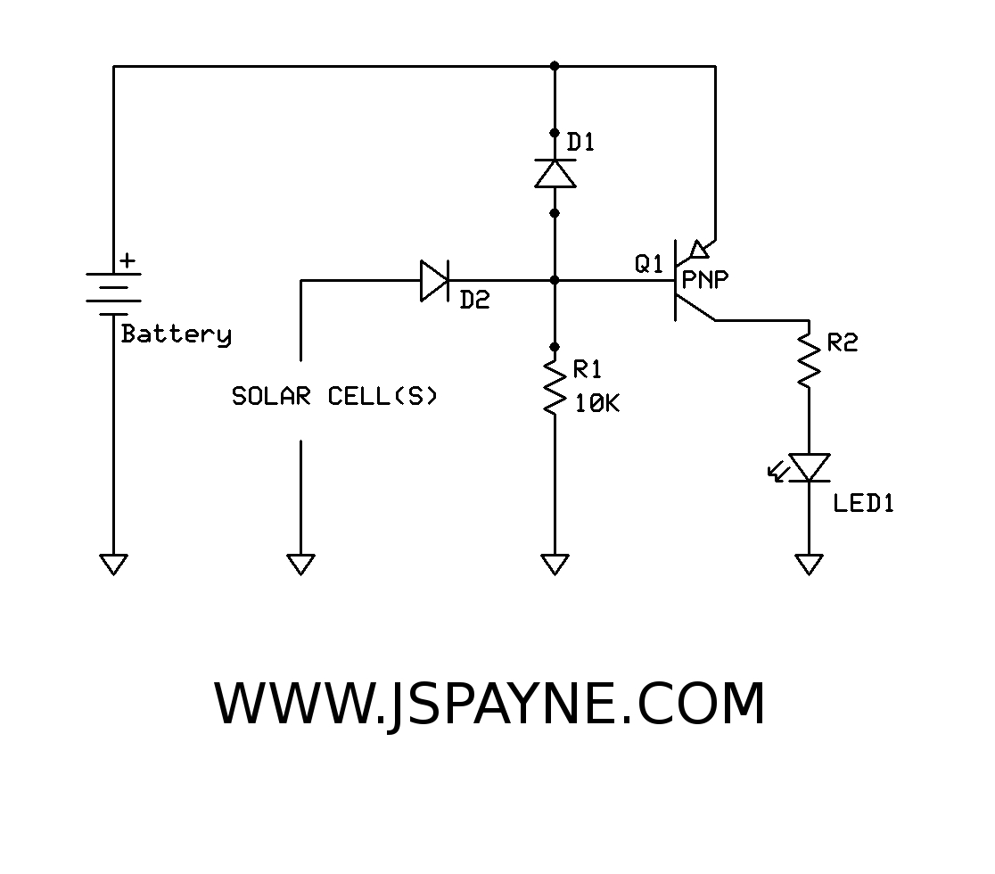 Solar Led Light And Charging Circuit