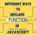 Different ways to declare function in javascript - JS Startup
