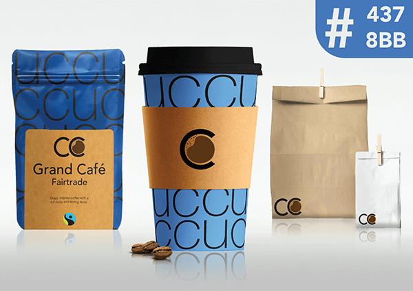 Coffee Company Cup Blue