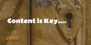 Construction Content Marketing Header featuring lock