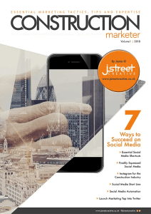 Construction Marketer Volume 1 social media front page July 2018