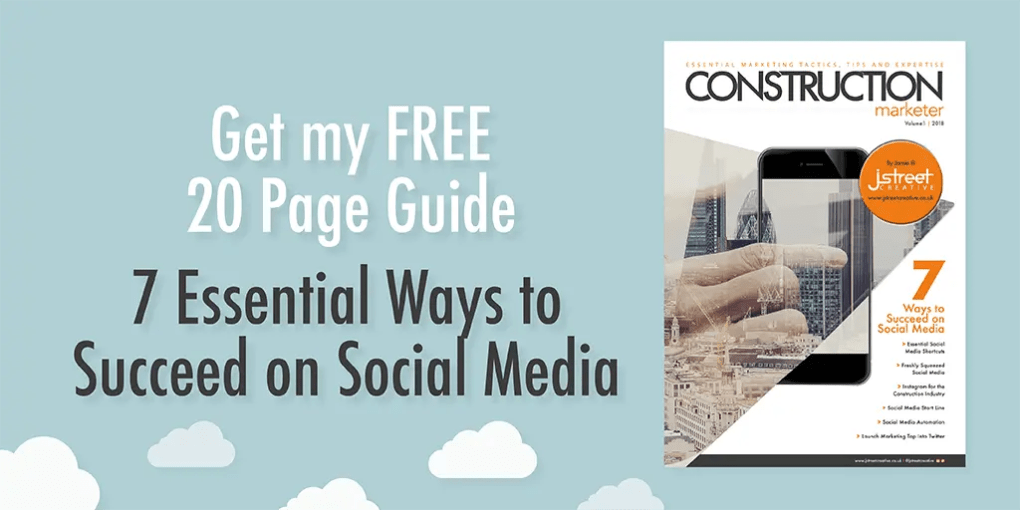 Construction Marketer 20 page guide free to subscribe today