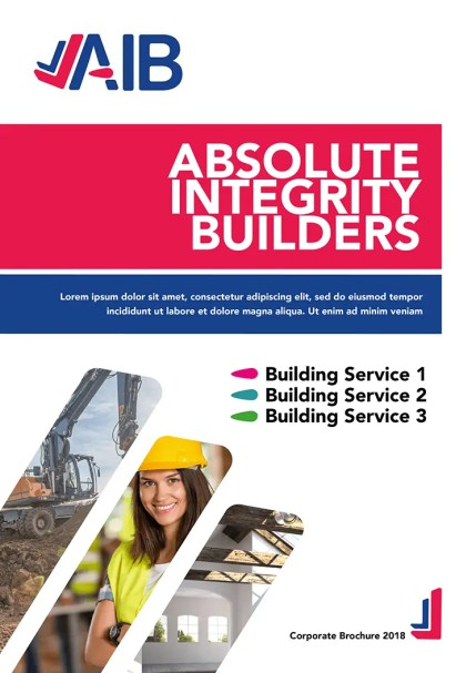 AIB Corporate Brochure Design Front Cover