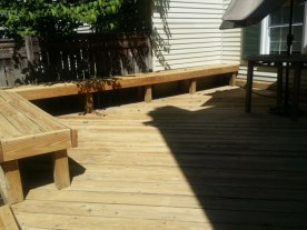 After Power Washing or Pressure Washing Deck and Patio