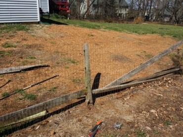 Before Fence Repair in Ijamsville