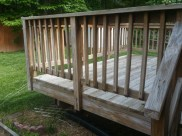 Before Power Washing / Pressure Washing of a Treated Wood Deck in Gaithersburg Maryland