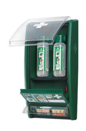 Øjenskyllestation m. plasterautomat