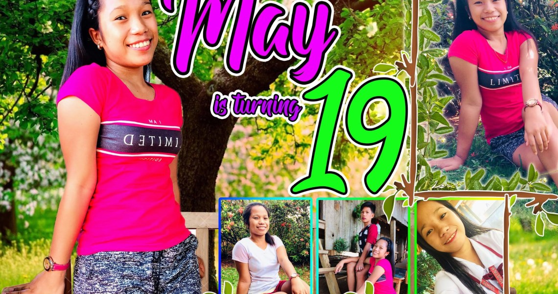 19th Birthday Tarpaulin Design in a Forest Theme