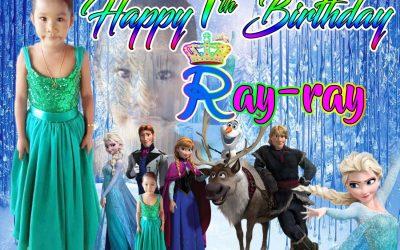 7th Birthday Tarpaulin Design in Frozen Theme