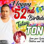 52nd Birthday Tarpaulin Design