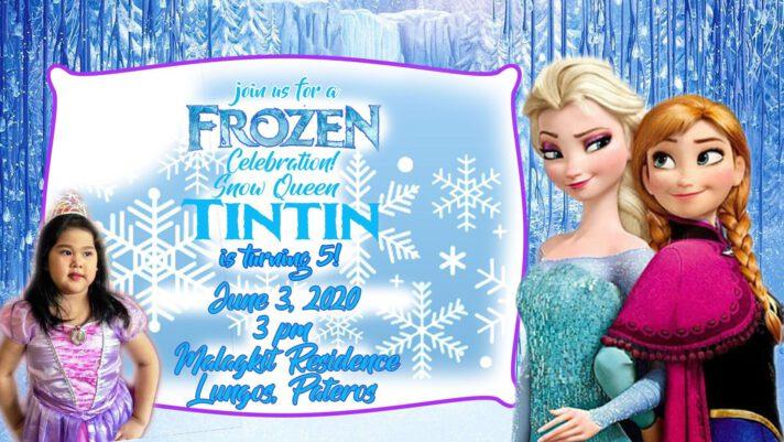 Frozen Inspired Birthday Invitation Design