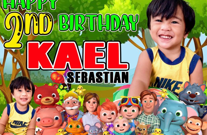 Cocomelon Psd 2nd Birthday Tarpaulin