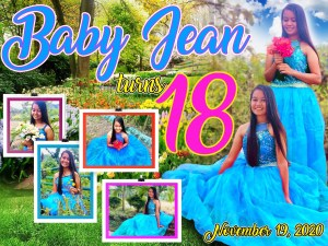Royal Blue 18th birthday Tarpaulin layout