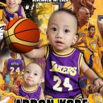 NBA Birthday Tarpaulin Template for First Birthday