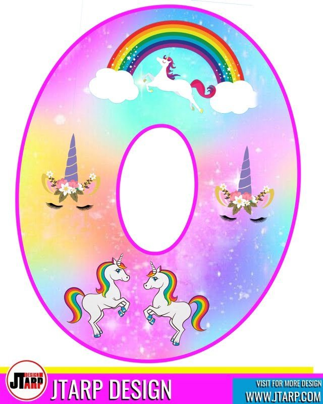 free unicorn party printables, Alphabet Letter O